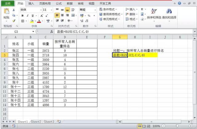 Excel函数排名你多少,3个函数教你高效完成单条件、多条件排名
