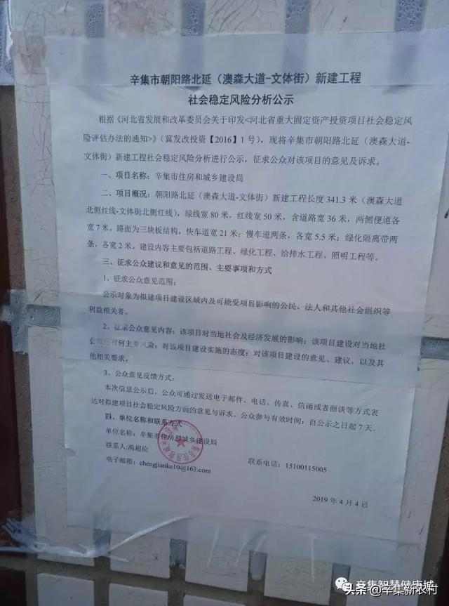 辛集朝阳路北延,进入前期勘测阶段,双向六车道…【辛集新农村】