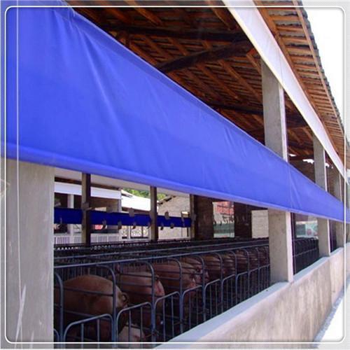 现代养殖设备厂家专供上饶专业定制猪场保温卷帘布 防水牛场卷帘
