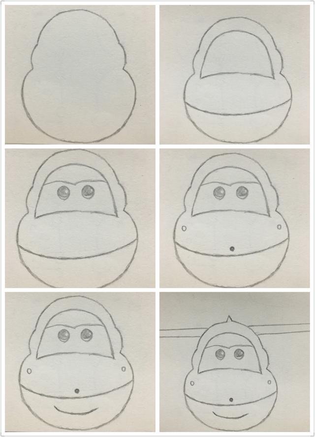 简笔画 超级飞侠乐迪的画法