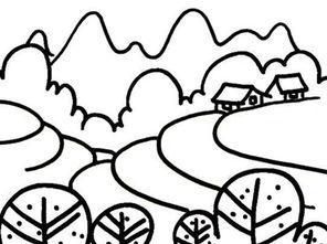 春天耕地简笔画 春天的图片简笔画 关于春天的简笔画