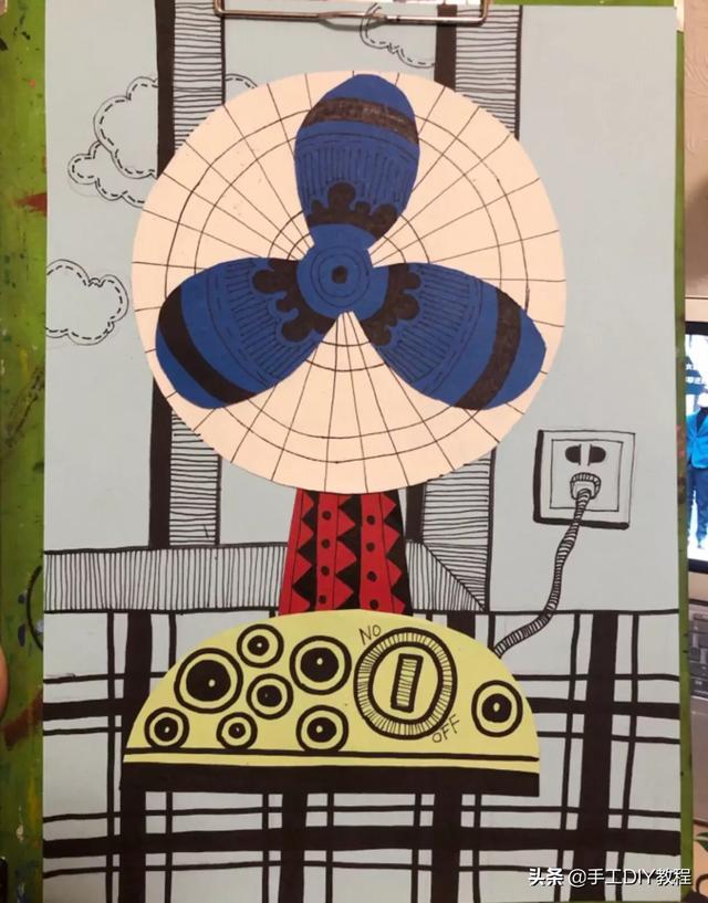 电风扇,幼儿园创意美术