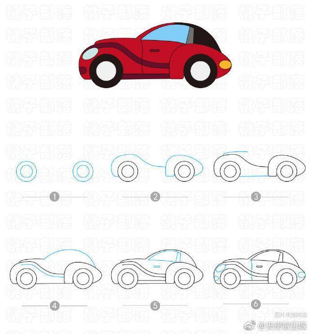 各种简笔画汽车大全,儿童简笔画车车教程