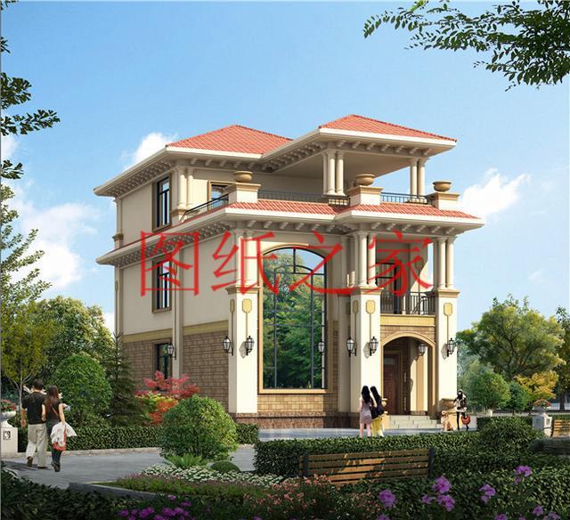 8X15米三层别墅设计,小面宽也能盖出漂亮别墅,你觉得怎么样
