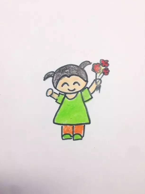 超简单人物简笔画,让孩子的绘画课自信满满