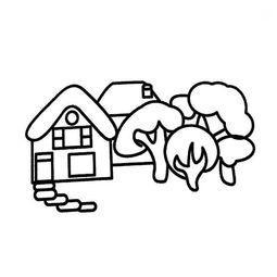 小房子的画法图片