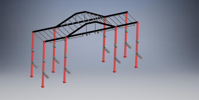 MonkeyBar图纸吊杠模型3D图纸STP铰刀4刃公园格式图片