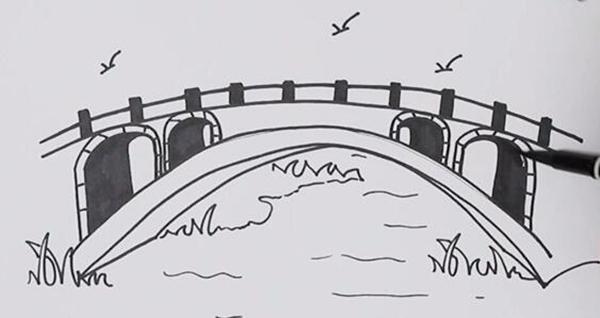 桥的简笔画怎么画 教你画一幅简单的赵州桥