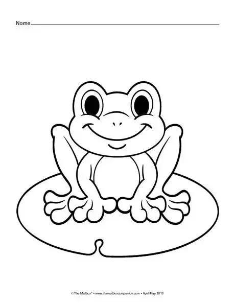 儿童简笔画 夏天池塘的小青蛙呱呱呱,一步一步教孩子画