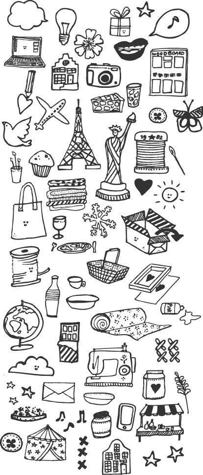 200种可爱的手账简笔画法,超级实用的素材 建议收藏