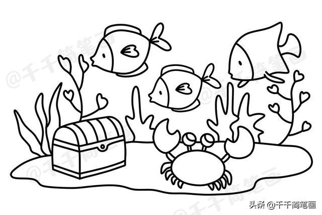 海底世界儿童简笔画图片大全 零基础教程,收藏这一篇就够了