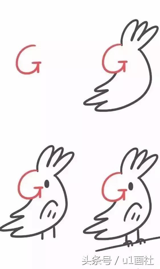 26个英文字母创意简笔画,宝宝边画画边学习 解决妈妈的教学难题图片