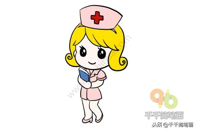 护士简笔画简单又漂亮 千千简笔画