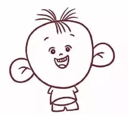 大耳朵图图简笔画步骤,赶快拿起画笔教小朋友们试一试吧