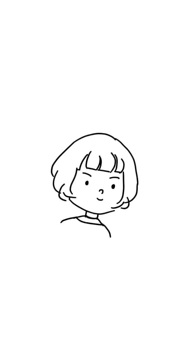 黑白简笔画