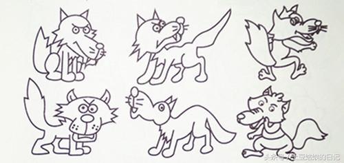 的日记027 简笔画之森林里的动物朋友们3 蜗牛恐龙