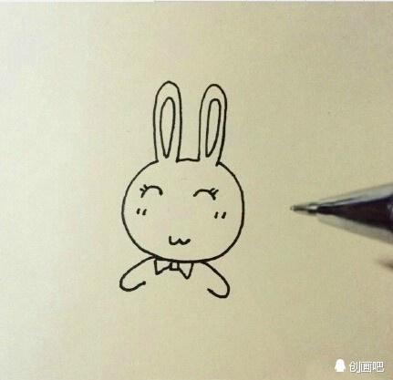 教大家画一只萌萌的小兔子,喜欢简笔画的童鞋来收了吧