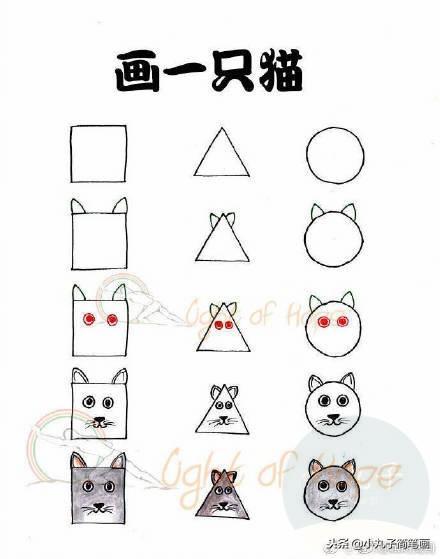 几种动物简笔画和谜语,快来亲子游戏,猜动物画画了