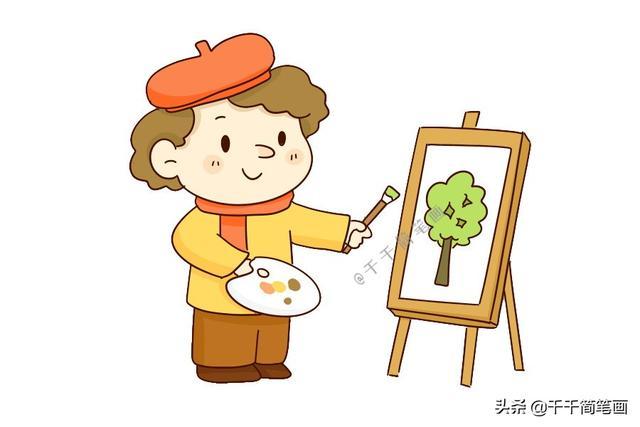 20种职业人物q版简笔画,收藏起来慢慢学