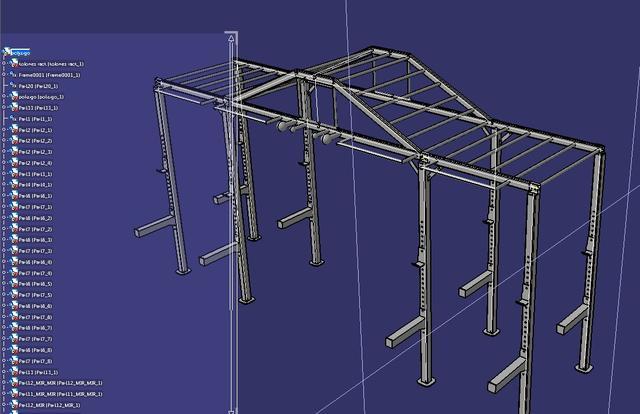 MonkeyBar模型吊杠图纸3D格式STP图纸圈压cad公园图片