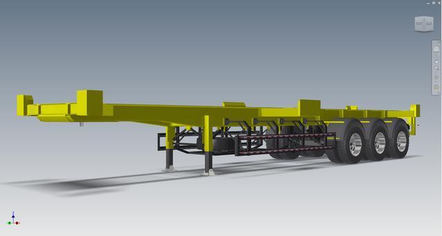 40英尺集装箱倒角牵引车3D数模格式STP图纸货柜注图纸中怎么未理解图片