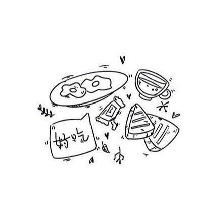 一组食物简笔画素材 小画家们自己也能学会 手账 手抄报都能用