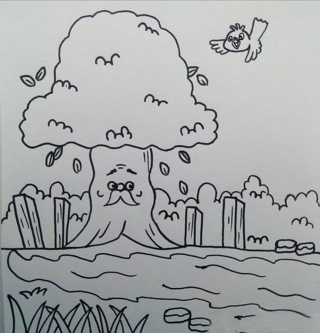 幼儿简笔画图片带颜色,超适合小朋友的简笔画大全