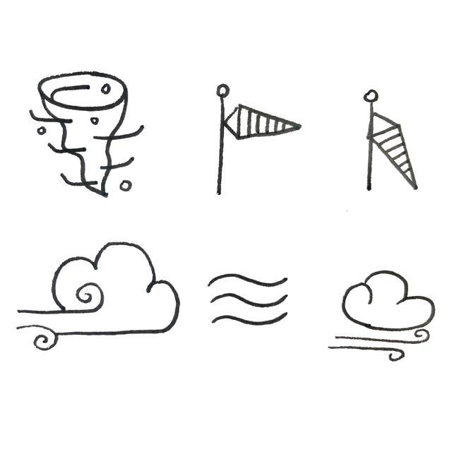 各种天气的54种简笔画法,超级实用的素材 建议收藏