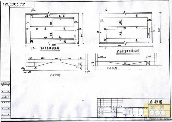 养猪场的规划设计--万头房屋设计图-现代化猪二层半猪场v房屋平面图图片