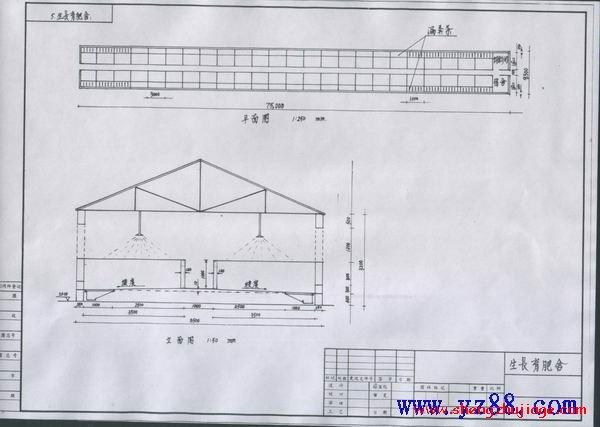 万头猪场平面设计图 -猪场建设