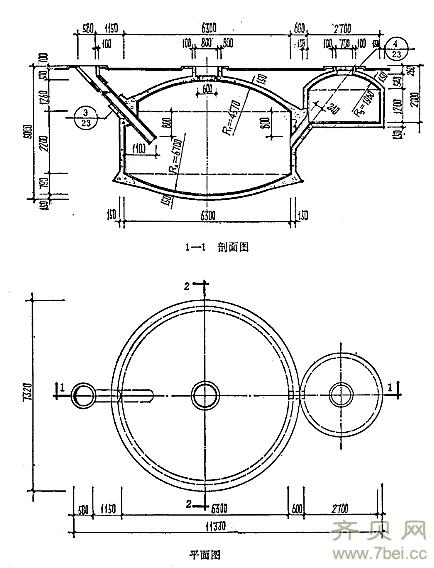混凝土沼气池的建造及设计图 -猪场建设