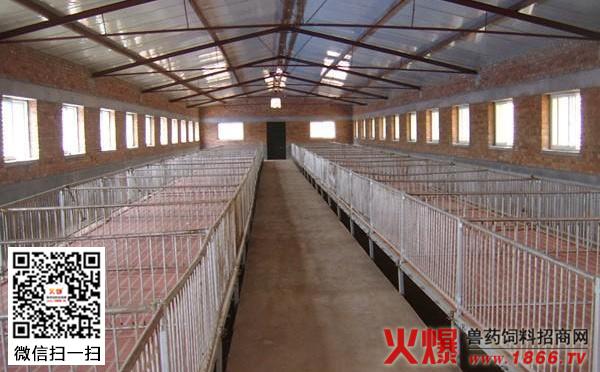 大型养猪场设计图   大型养猪场建设选址   养殖场选址必需符合《中华人民共和国畜牧法》的规定,远离城市水源、交通主干道;并尽可能远离其他的生产区域,如交通要道、村庄、工厂、铁路等,以便最大限度地减少疾病传染的可能性;但也要交通方便,这样既有利于防疫,又便于解决运输等问题。同时,要求建在地下水源丰富、地势高燥、排水畅通的地方。如果自然条件满足不了这个要求,就应当采取垫高地势和猪舍周围开挖排水沟的办法来解决。   大型养猪场建设要点   (1)温度   温度在环境诸因素中起主导作用。猪对环境温度的高低非常