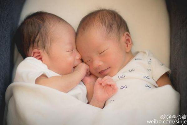 李心洁双胞胎儿子曝光 彭济云彭子然正面照超萌