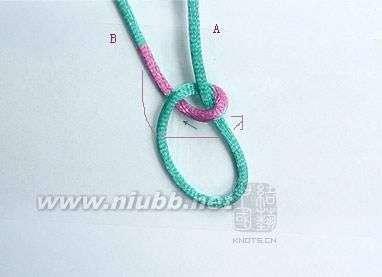 4步骤 绳子编织 各种基本绳结编法 b.结编:金刚结,纽扣结