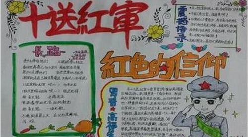 长征胜利80周年电子手抄报图片_纪念红军长征胜利80周年手抄报内容