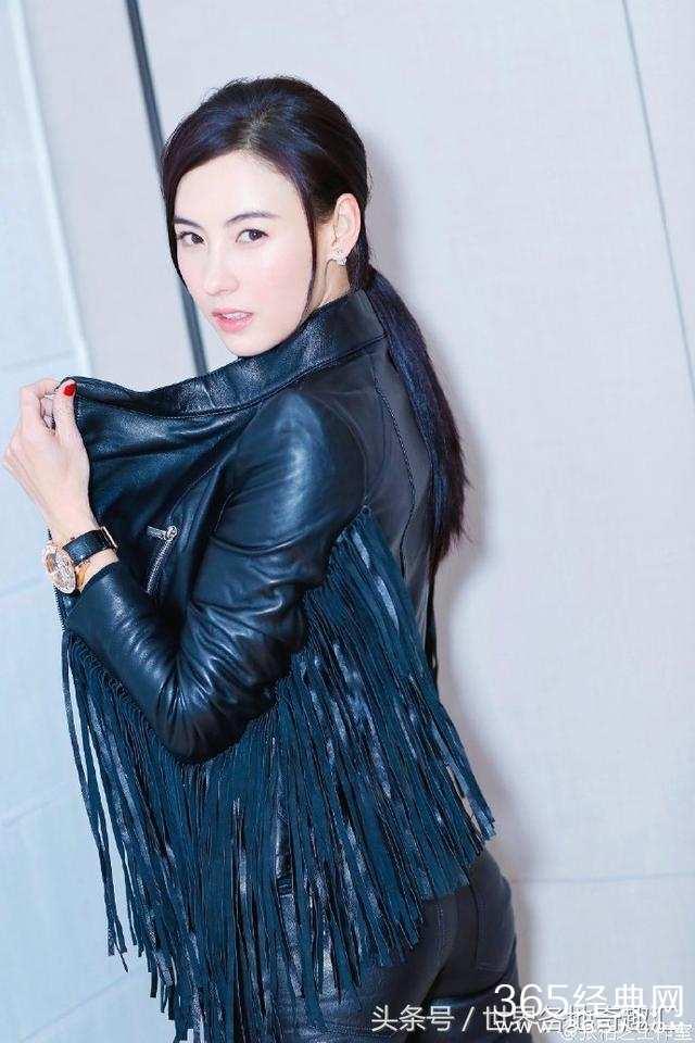 张柏芝拍摄写真尽显酷帅造型,可网友纠结的点却都在裤子上