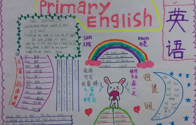 小学生快乐暑假英语手抄报资料大全
