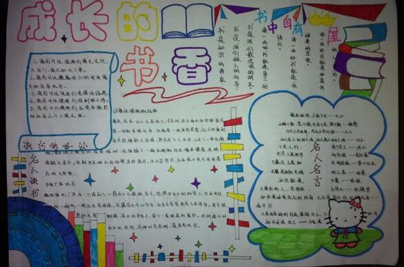 六年级读书小报手抄报图片