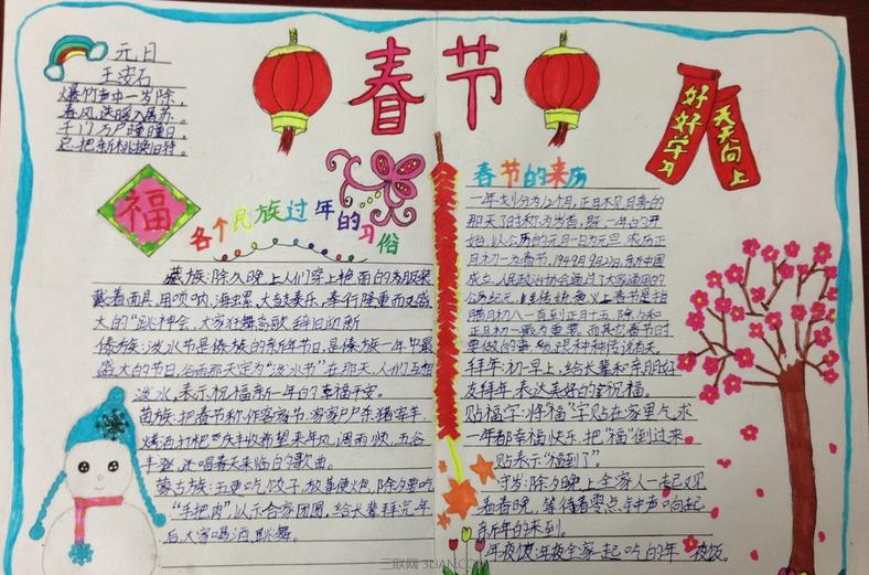 春节手抄报内容资料大全