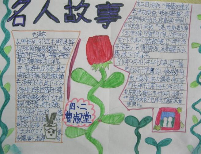 小学生名人故事手抄报图片大全