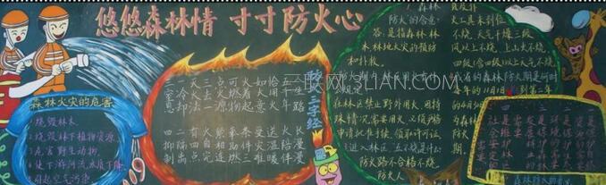 森林防火黑板报版面设计图
