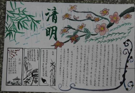 小学五年级清明节手抄报图片