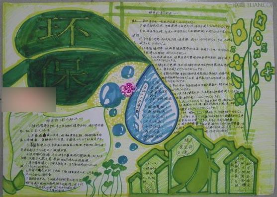 2015小学生绿色环保手抄报图片
