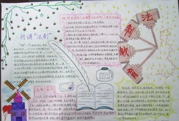 小学四年级法制手抄报图片
