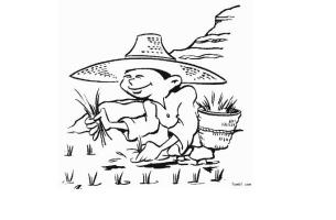 农民的简笔画图片