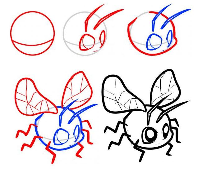 小飞虫的简笔画步骤教学