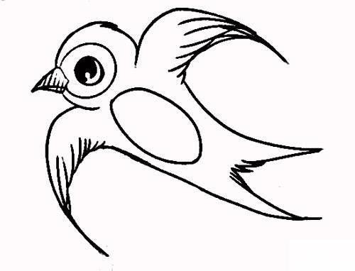 小燕子的简笔画
