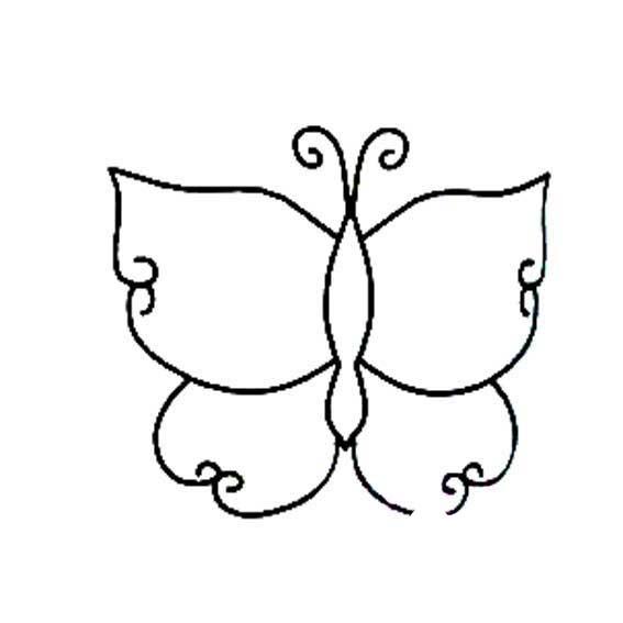 多种多样的蝴蝶简笔画