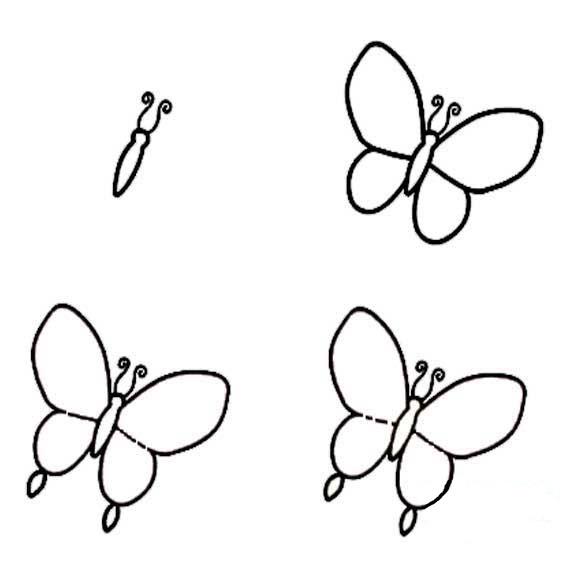 10张儿童蝴蝶简笔画