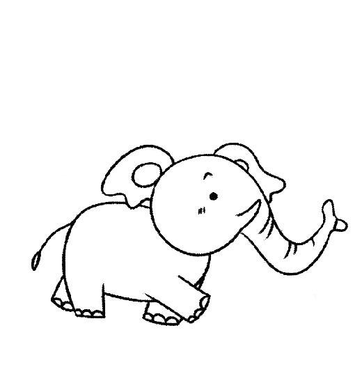 大象宝宝的简笔画